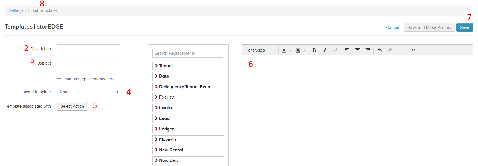 Creating And Editing Email Templates Storedge